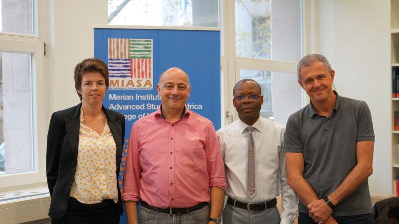 Dr. Annika Hampel, Professor Andreas Mehler, Professor Romain Glèlè Kakaī  und Professor Bernd Kortmann