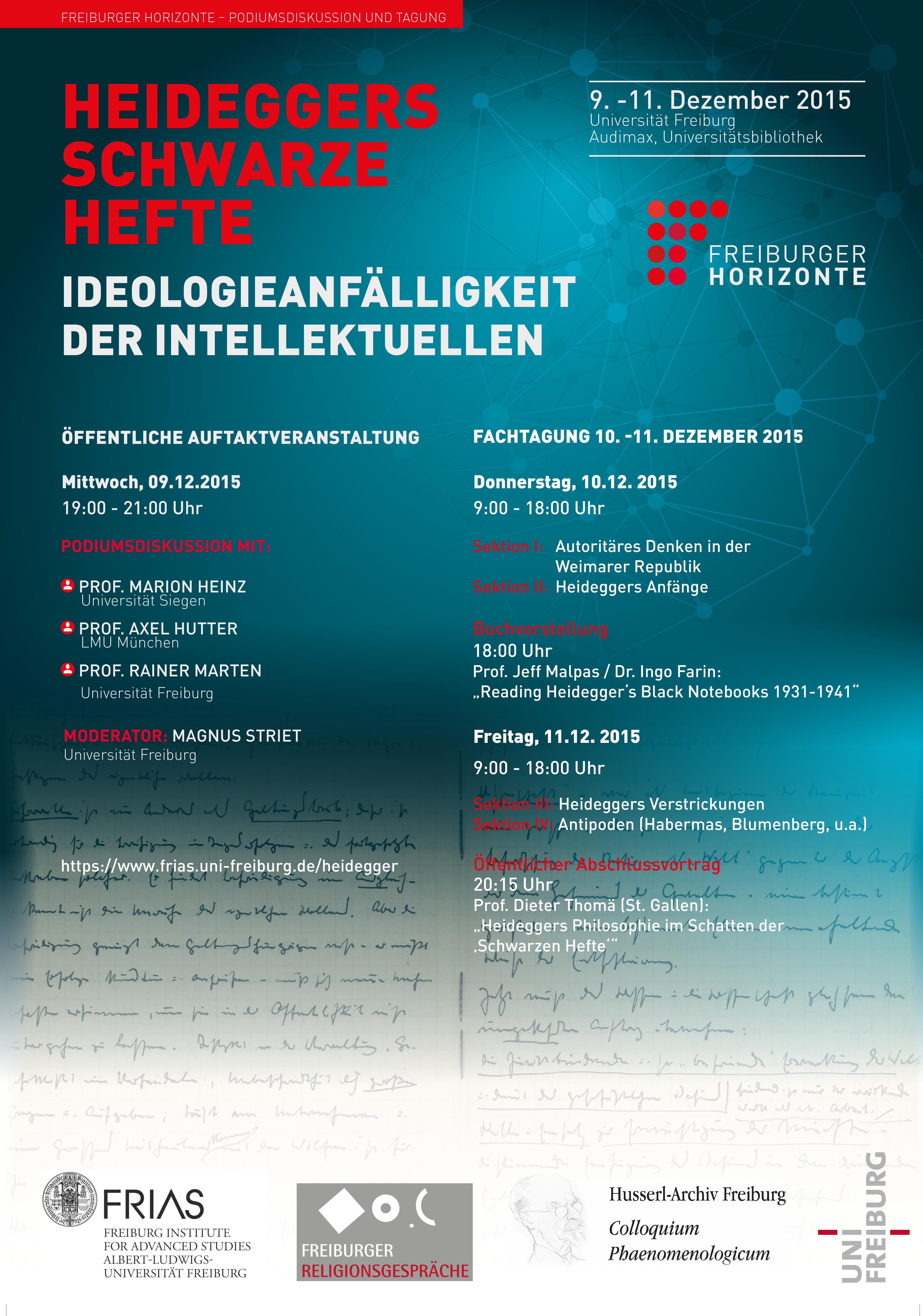 """Heideggers """"Schwarze Hefte"""" - Ideoologieanfälligkeit der Intellektuellen"""