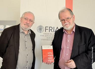 Terry Eagleton mit FRIAS-Sprecher Werner Frick