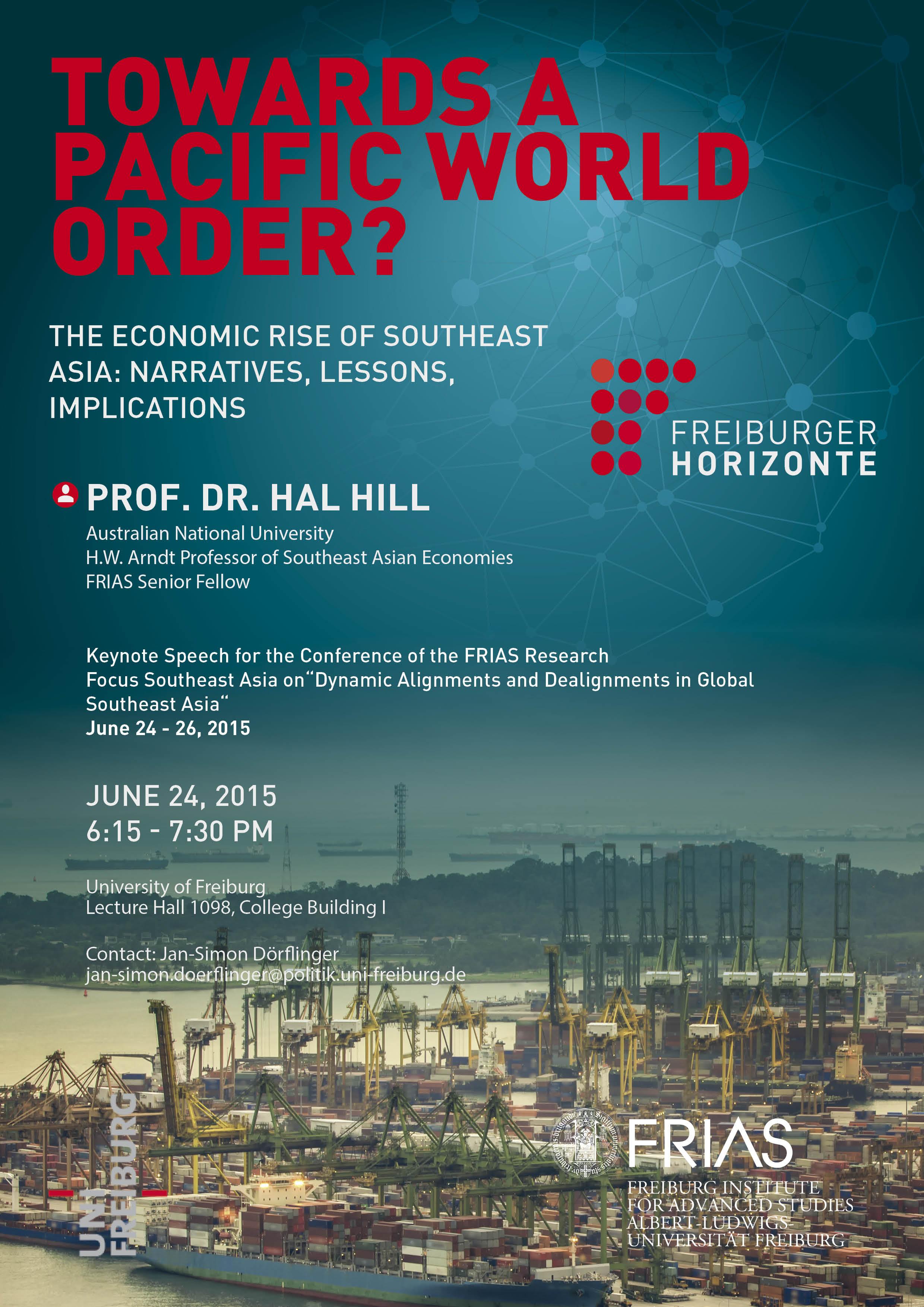Freiburger Horizonte - Vortragsabend mit Hal Hill am 24. Juni 2015