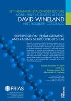18. Hermann Staudinger Lecture mit Nobelpreisträger David Wineland am 9. Dezember 2014