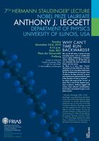 Nobelpreisträger Anthony Leggett hält 7. Hermann Staudinger Lecture