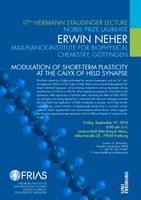 17. Hermann Staudinger Lecture mit Nobelpreisträger Erwin Neher am 5. September 2014