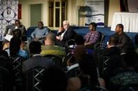Ein denkwürdiger Moment: Bundespräsident Frank-Walter Steinmeier gibt Startschuss für das MICAS Africa Zentrum an der Universität Ghana