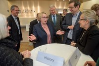 Lively discussions with Minister Theresia Bauer